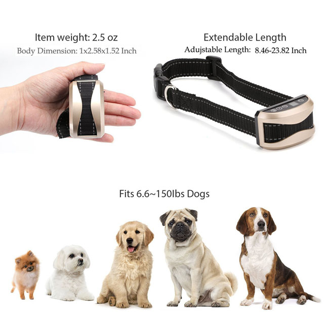 No Bark Dog Training Collar Automatic Anti Bark Collar Sound adjustable