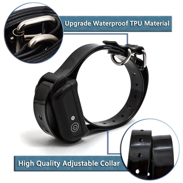 Rechargeable and Waterproof Dog E-Collar Trainer for 1 Dog