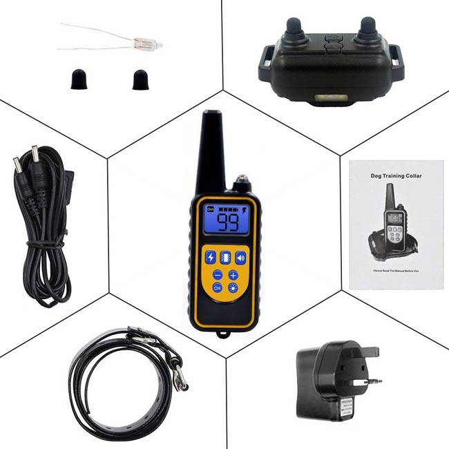 800 yards Dog Training Collar with Wireless Remote WaterProof&Rechargeable