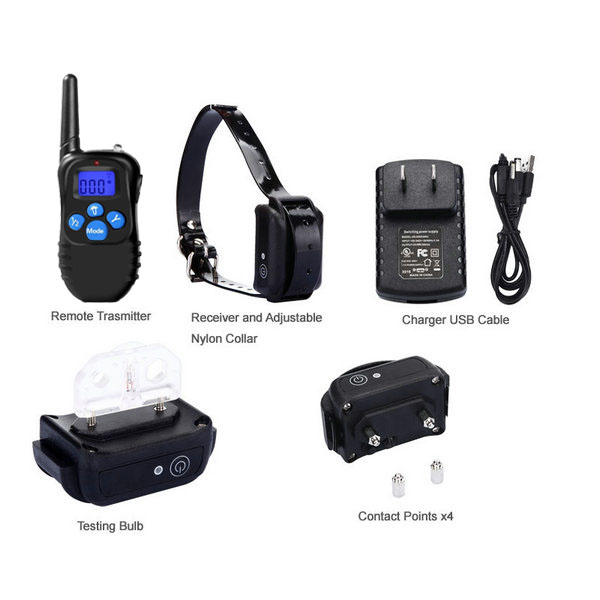 Dog Training Collar with Rechargeable LCD Remote for 1 dog