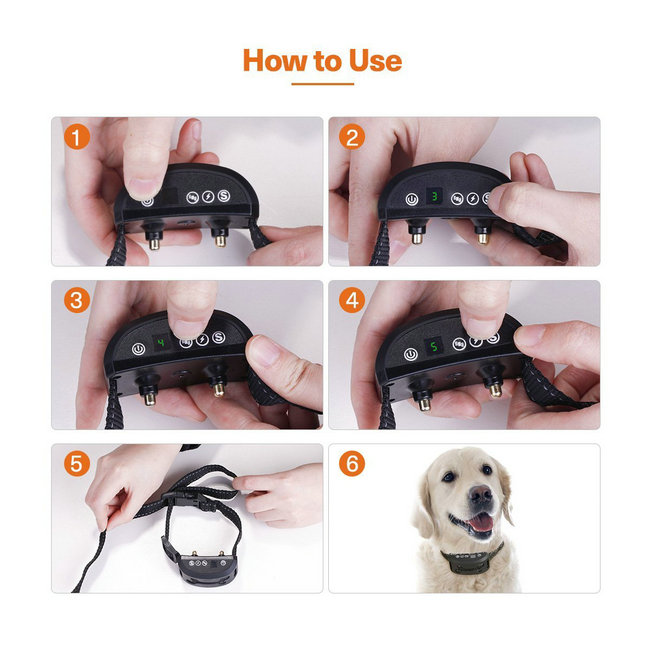 Rechargeable No Bark Collar Anti Barking Device Stop Dogs Barking Collar