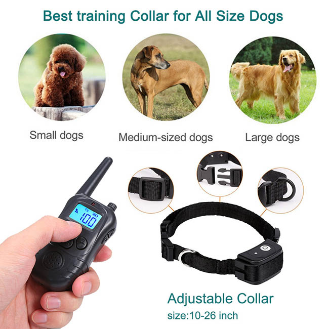 Dog Training Collar with Wireless Remote WaterProof&Rechargeable