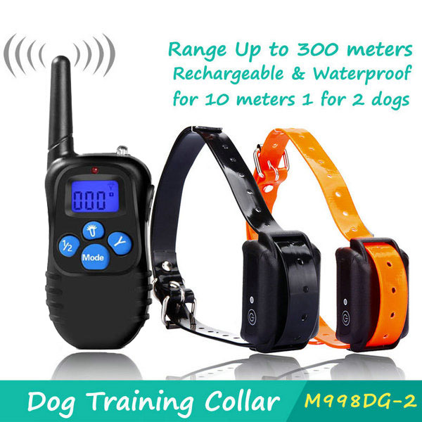 Rechargable 330YD Remote Dog Training Shock Collar for 2 Dog